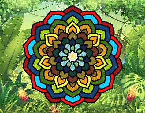 petali di fiori disegno mandala petali di fiori colorato da lucarix il 24