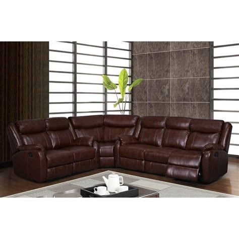 living room furniture usa global furniture usa 3 piece leather sectional in brown