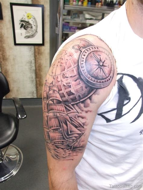 compass tattoo on shoulder 61 amazing nautical shoulder tattoos