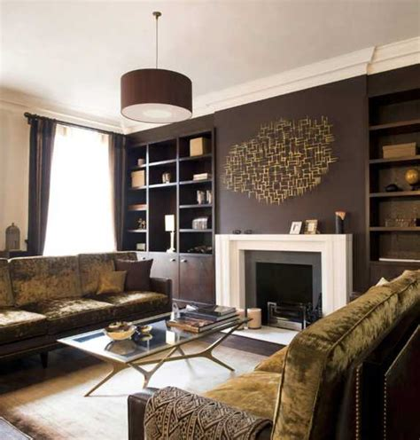 Brown Living Room Decor | chocolate brown interior colors and comfortable interior