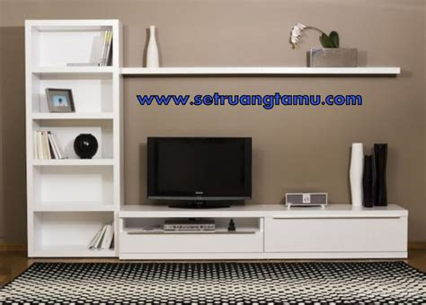 Rak Tv Di Carrefour harga rak tv kayu minimalis modern model lemari tv