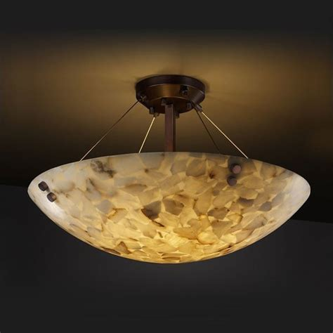 alabaster ceiling lights alabaster rocks semi flush mount with cylindrical finials