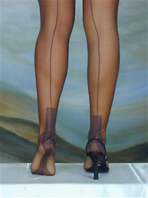 eleganti fully fashioned stockings havana heel imperfects