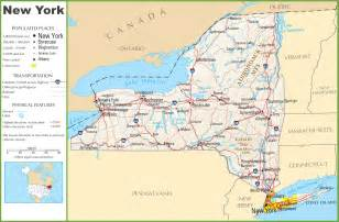 Show Me A Map Of New York by New York Highway Map