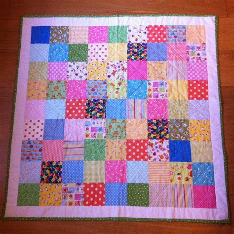 Patchwork Coverlet - how to make a patchwork quilt the pink button tree