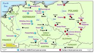 Concentration Camps In Germany Map by The Holocaust Concentration Camps Maps Images Amp Pictures