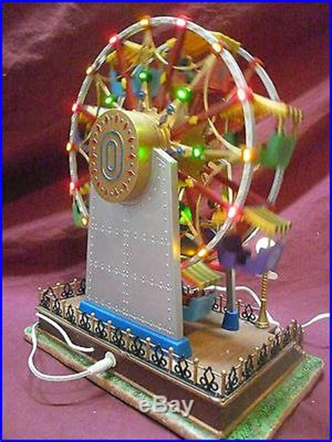 the starburst ferris wheel mib lemax at the fair series the starburst animation lights complete decor world