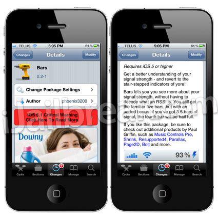 bars cydia tweak bars cydia tweak more accurate reception bars on iphone