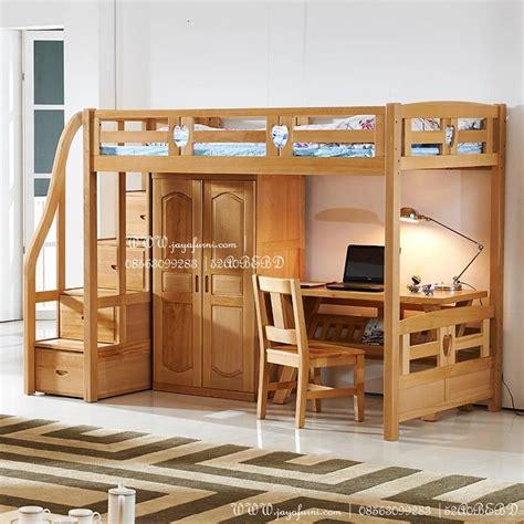 Tempat Tidur Caisar Di Medan tempat tidur tingkat modern meja belajar set toko
