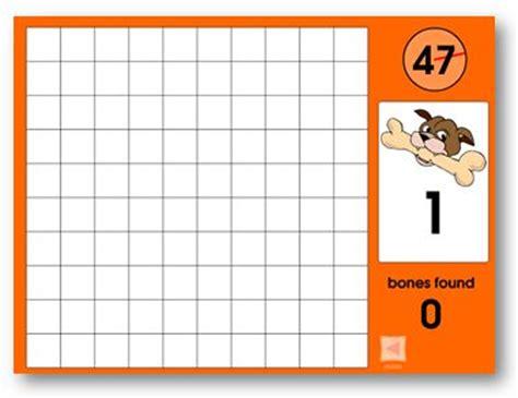 hundreds chart games  play  bones   pinterest