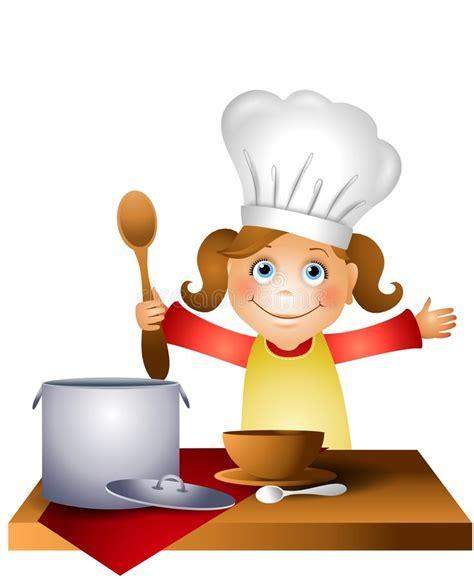 clipart bambino bambino della ragazza in cappello 2 cuoco unico