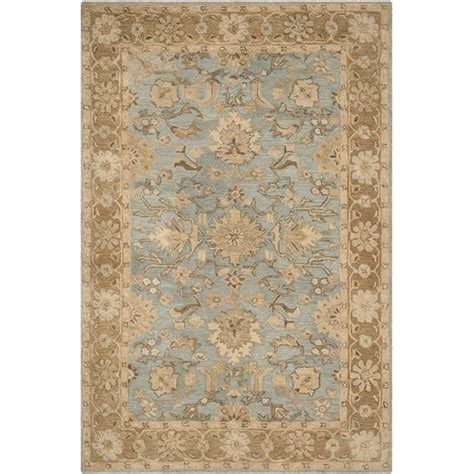 Blue Traditional Rugs by Safavieh Anatolia Light Blue Traditional Rug 4 X 6