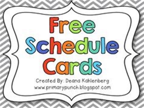 free printable daily schedule cards for kindergarten 1000 images about classroom organization on pinterest