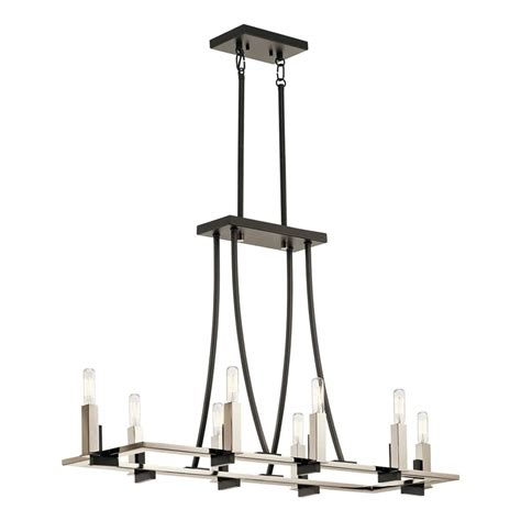 Kichler Lighting 43292bk Bensimone 8 Light Linear Kichler Linear Lighting