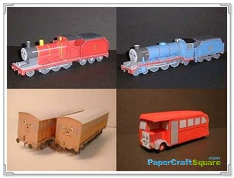 Railroad Point Right Paper Craft the tank and friends papercraft