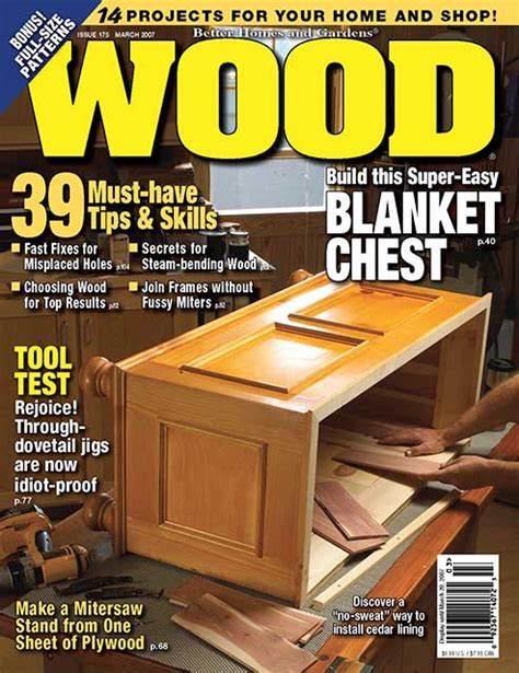 woodworking magazines free wood issue 175 march 2007 woodworking plan from wood magazine