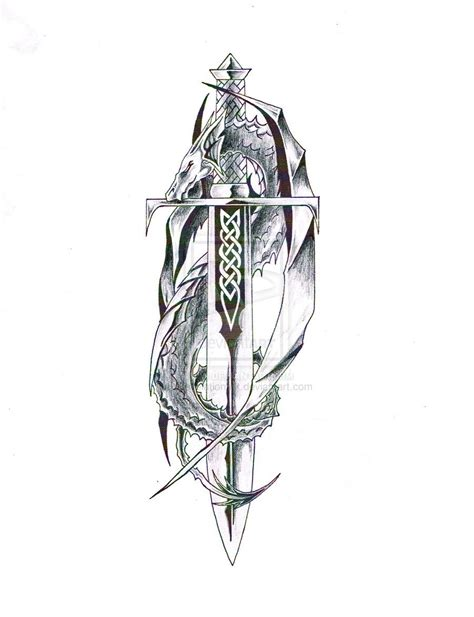 knight and dragon tattoo designs celtic sword shield designs with sword 1