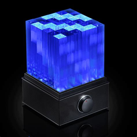 bluetooth water light speakers supernova light cube led bluetooth speaker thinkgeek