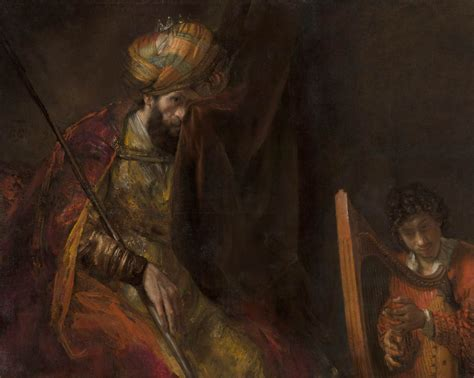 Painting K by Rembrandt S Saul And David At The Mauritshuis A Progress