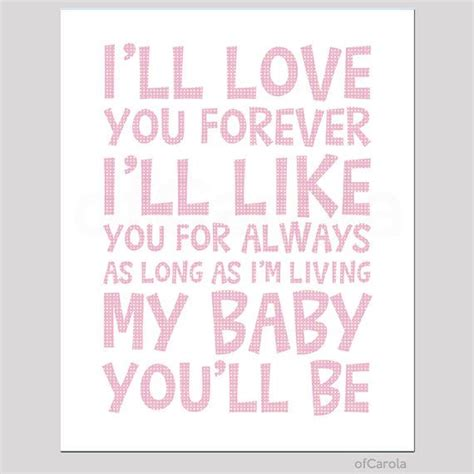 imagenes i love you forever i ll love you forever quote wall art print child kids
