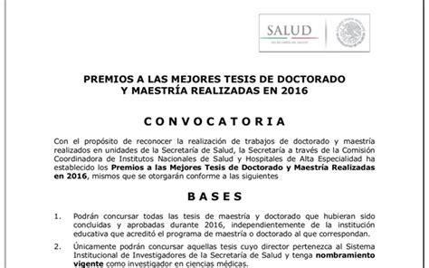 convocatorias y prestaciones premio europa de tesis 2017 convocatoria premios tesis comisi 243 n coordinadora de