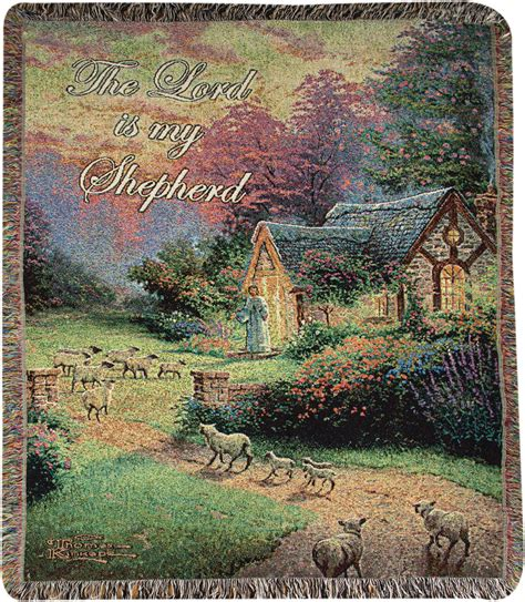 The Tapestry Cottage by The Shepherd S Cottage Tapestry Afghan Throw Kinkade Home Garden