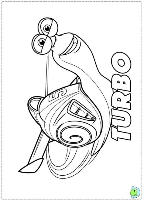 printable turbo coloring page turbo coloring page dinokids org