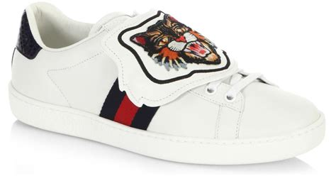 Lyst - Gucci New Ace Sneakers With Lion Patch in White White Gucci Shoes For Men