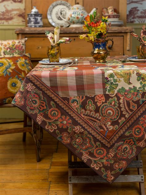 Patchwork Tablecloth - harvest riches patchwork tablecloth linens kitchen