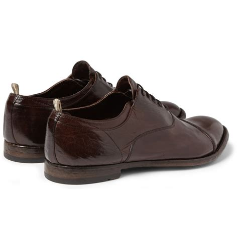oxford sandals lyst officine creative highshine leather oxford shoes in