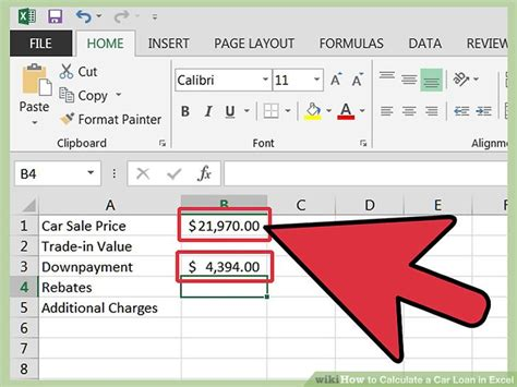 how to make a car payment with a credit card how to calculate a car loan in excel 10 steps with pictures
