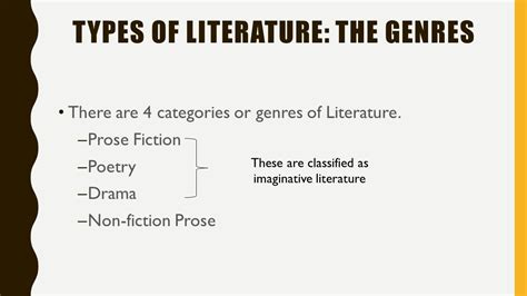 kinds of themes in literature genres of literature fiction ppt video online download