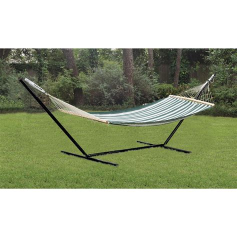 backyard hammock stand deluxe hammock stand 91755 hammocks at sportsman s guide