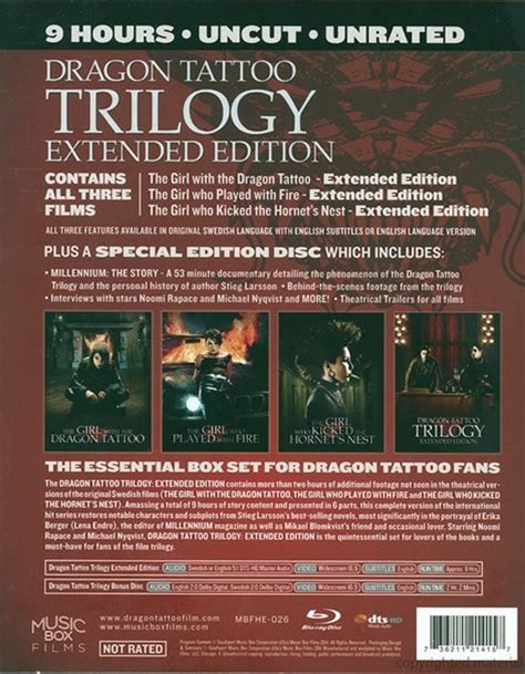 dragon tattoo trilogy dragon tattoo trilogy extended edition blu ray 2009