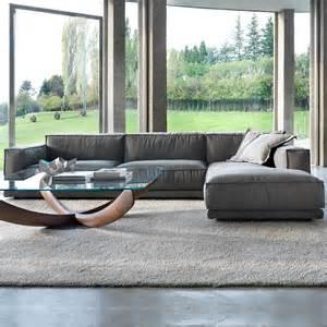 large contemporary linen modular sofa
