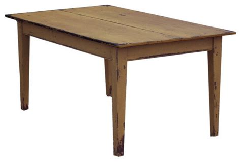 Traditional Kitchen Tables Pine Farm Table By Joseph Spinale Primitive Furniture Traditional Dining Tables By Etsy