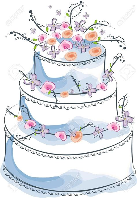 Wedding Cake Clip by Wedding Cake Clipart Pencil And In Color Wedding