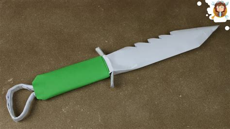 Origami Knife - how to make a paper knife mini sword