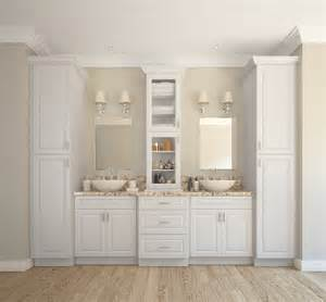 Premade Bathroom Cabinets Dakota White Pre Assembled Bathroom Vanities The Rta Store