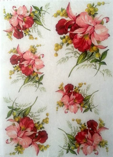 Decoupage Paper Flowers - vintage decoupage and on