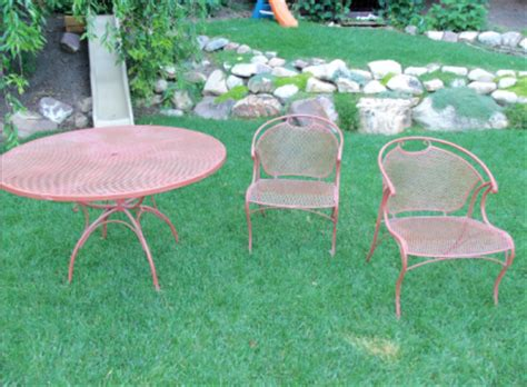 Painting Wrought Iron Furniture Serendipity Refined Blog Painting Wrought Iron Patio Furniture