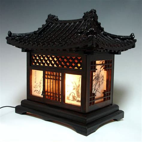 lantern house wood l shade handmade traditional korean house design art lantern brown asian oriental