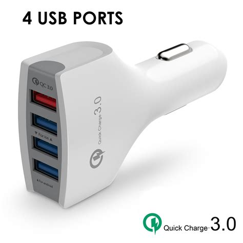4 Usb Ports Car Charger Adapter Fast Charging Berkualitas saapni universal 4 ports usb car charge adapter white cc01 4usb