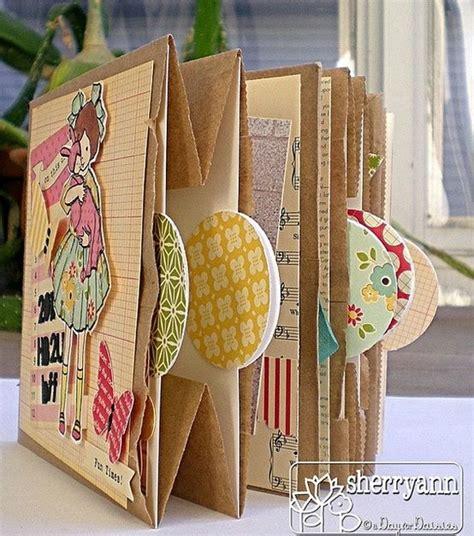 How To Make A Paper Photo Album - paper bag album minialbums