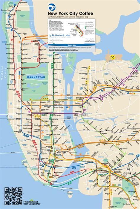 subway map new york city manhattan ride stop sip repeat the manhattan subway station