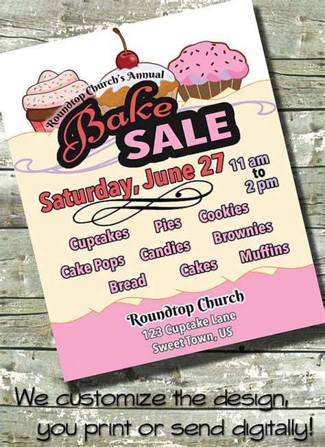 17 bake sale flyers psd vector eps