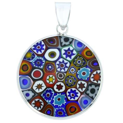 mille fiori millefiori pendants medium millefiori pendant in silver