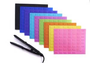 flat iron travel heat resistant silicone mat for