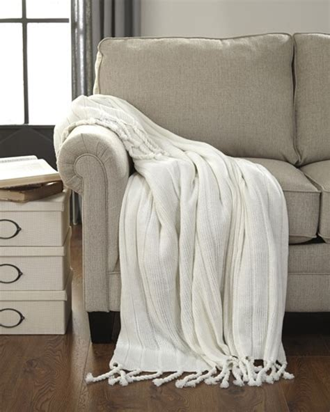 ashley furniture clarence  white throws  classy home