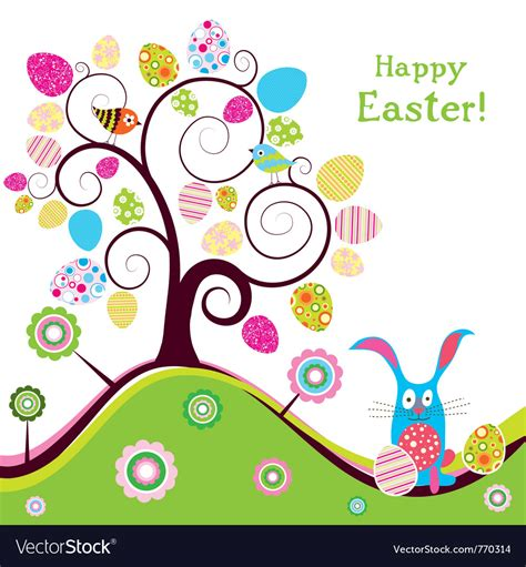 Easter Card Template Tes by Template Easter Greeting Card Royalty Free Vector Image